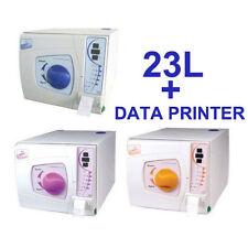 23L Medical Surgical Dental Autoclave Sterilizer Vacuum Steamer W/ Data Printer