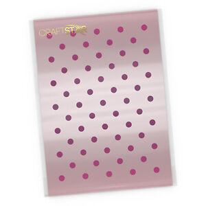 Mini Polka Dot Stencil - Airbrush / Craft - 5 or 7 mm Dot Pattern Stencil