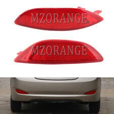 2X For Hyundai Accent Solaris 2008-2015 Rear Bumper Reflector Tail Brake Light