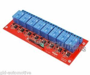 SCHEDA Modulo 8 RELÈ 5 Vdc 10A Controllo da Microcontrollori Arduino
