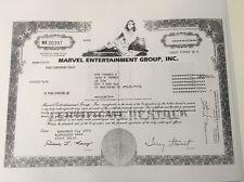 Marvel Comics Stock Certificate 1993 Roy Thomas Dan Tomas Copy