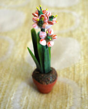 Vintage Dollhouse Miniature FLOWERING PLANT ARTIST MADE Fine Collectible NEW