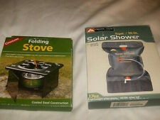 Camping Lot- 5 Gallon Solar Shower and Folding Stove-Both New in Box