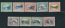 TRINIDAD and TOBAGO KGV 1935-7 pictorials (SG 230-8 complete 237 is used) VF MLH