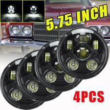 DOT 5.75 5-3/4 Round LED Headlights 4PC Halo DRL For Chrysler New Yorker 1962-81