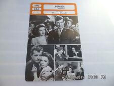 CARTE FICHE CINEMA 1945 L'HORLOGE Judy Garland Robert Walker James Gleason