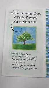 Blue Mountain Arts Sentimental Card: Sympathy - When Someone Dies,