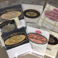 "Charles Craft & MCG Bread Cover Cloths 14 Ct Aida Fabric 18x18"" New - You Choose"