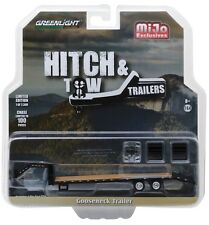 1:64 GreenLight *Hitch & Tow* Black *Gooseneck* 5th Wheel Flatbed Trailer *Nip*