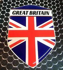 "Great Britain Union Jack Proud Flag Domed Decal Emblem Sticker 3D 2.3""x 3.3"""