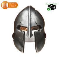 Bague chevalière acier inoxydable Qualité 316 L Casque Spartiate Soldat Sparte