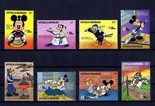 Antigua - 1991 - Disney - Mickey - Donald - Karate - Martial Arts + Mint Nh Set!