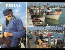 PIRIAC (44) MARIN-PECHEUR au REMAILLAGE de FILET & BATEAUX DE PECHE en 1984