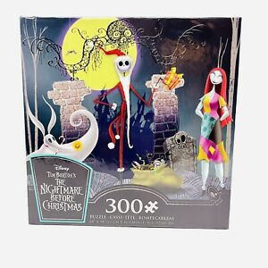Disney The Nightmare Before Christmas Jack Sally Zero 300 Piece Puzzle & Poster