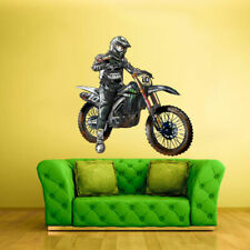 Full Color Wall Decal Sticker Dirty Bike Motocross Motocycle Dirt Moto (Col333)