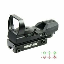 Tactical Holographic Reflex Red Green Dot Sight 4 Reticle - 11mm Dovetail Mount