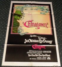 1974 Noir Classic Chinatown Original One Sheet Movie Poster Mt !