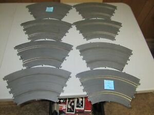 """(8) Used Vintage Revell 1/32 Scale 1965 Slot Car 14"""" Radius Curve Track Sections"""