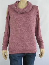 Crossroads Ladies Cowl Neck Cold Shoulder Top sizes 12 14 18 Colour Berry