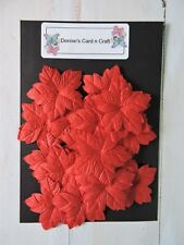 Paper Flowers - Medium Christmas Red
