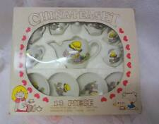 Vintage Miniature Doll Child Toy CHINA TEA SET 12 Piece 70's Original Box