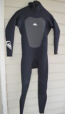 2011 NWT MENS QUIKSILVER CYPHER 3/2 L/S FULL BACK ZIP WETSUIT $300 S black grey