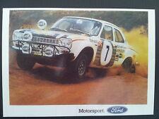 No 158 Ford Escort Mk 1 Rallying Ford Motorsport Vintage Ad Galllery VF370PC