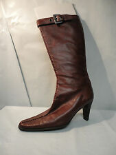Franco Sarto Red Leather 'Parma' Knee High Boots Women's Size 6.5M