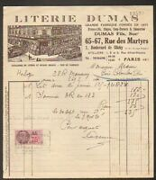"""PARIS (IX° Arrt.) USINE de LITERIE """"LITERIE DUMAS Fils"""" en 1936"""