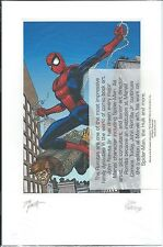 AMAZING SPIDERMAN GIVEAWAY PROMO PRINT LITHO LITHOGRAPH SIGNED JOHN ROMITA JR SR