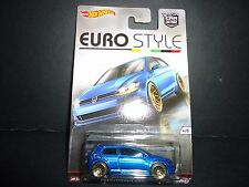 Hot Wheels Volkswagen Golf MK7 Blue Euro Style 1/64
