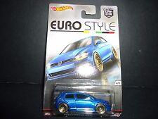 Hot Wheels Volkswagen Golf MK7 Blue Euro Style 1/64