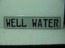 custom metal aluminum sign house number well water street open closed exit out