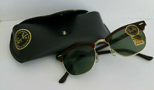 NOS Genuine Vintage Ray Ban , Bausch & Lomb USA  Clubmaster Mock Tortoise,New !