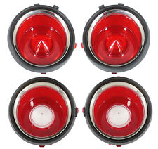NEW Tail Light & Back Up Lamp Lens SET / FOR LATE 1971-73 CHEVY CAMARO / A6712S