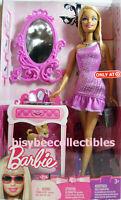 Barbie GETTING READY BARBIE Doll T3804 Vanity Mirror TARGET Exclusive 2009 NRFB