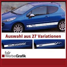 Aufkleber / Seitenbeschriftung / Dekor / Peugeot 207 - 27 Versionen #036