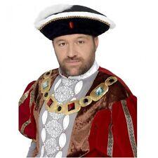Henry VIII Hat King Tudor Historical Fancy Dress Costume Accessory
