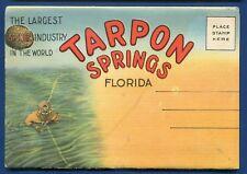 Tarpon springs Florida fl sponges industry postcard folder #1