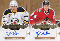 16-17 Fleer Showcase Hudson Fasching /499 Auto Rookie Hot Prospects Sabres 2016