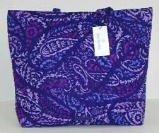 Vera Bradley Paisley Amethyst Essential Tote Shoulder SHOPPER Bag