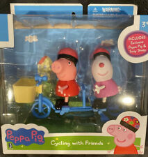 """NEW Peppa Pig 3"""" Mini Figure 2-Pack Cycling With Friends Playset Toy"""