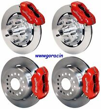 "WILWOOD DISC BRAKE KIT,1971-1974 AMC Javelin,12"" ROTORS,4 PISTON RED CALIPERS"