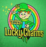 St Patricks Day Lucky Charms Leprechaun Cereal General Mills New T-Shirt X-Large