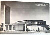 Vintage Postcard - Church of Christ the King Seattle, WA