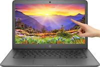 """NEW HP Chromebook 14"""" HD Touchscreen Intel N3350 4GB SDRAM 32GB eMMC Webcam BT"""