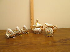 Germany Bavaria porcelain gold plated 6 pieces from coffee set
