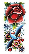 Estilo Vintage Manga de Tatuaje Temporal tragar Corazón Rockabilly Pinup