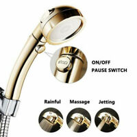 3 In 1 High Pressure Showerhead Handheld Shower Head with ON/Off Pause ON OFF ME