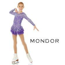 MONDOR Sparkly Figure Skating Competition Dress NEW Violet Adult Large